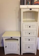 Unique white solid wood drawer & bedside table Cremorne North Sydney Area Preview
