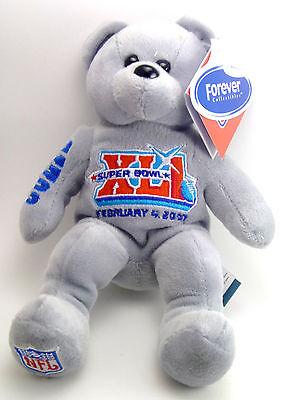 Indianapolis Colts Super Bowl XLI Solid 8 inch Bean Bear   (Super Bowl Xli Colts)