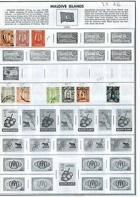 Maldive Island stamps, 25 mint and used, 2020 SCV - $79.00+ see images