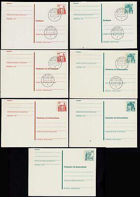 Berlin 7 Stück Ganzsachen B&S * + Ersttag mit Antwortkarten GELEGENHEIT  (23576