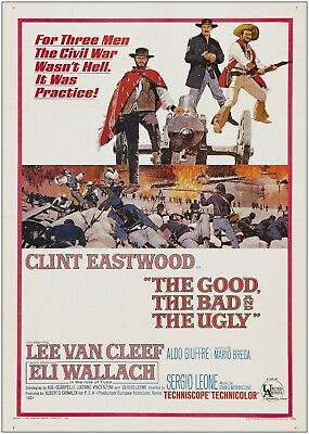 The Good The Bad And The Ugly Movie Poster Print T1702 A4 A3 A2 A1 A0|