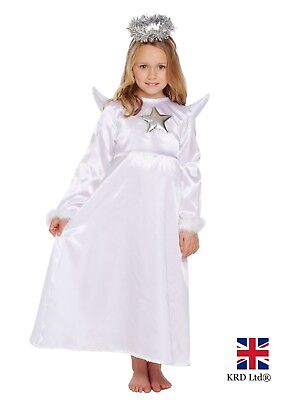 ME Kids Girls Christmas Gabriel Fancy Dress Outfit Party UK (Nativity Angel Outfit)