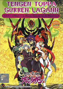 Tengen Toppa Gurren Lagann Chapter 1 - 27 + 2 Movies DVD Box English Dubbed