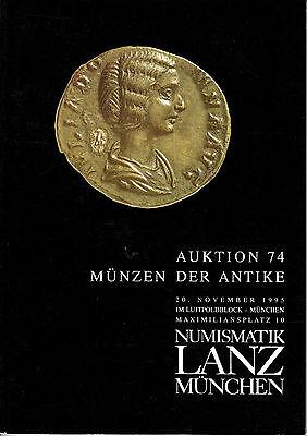 LANZ AUKTION  74 Katalog 1995 Kelten Griechen Römer Byzanz Völkerwanderung ?74