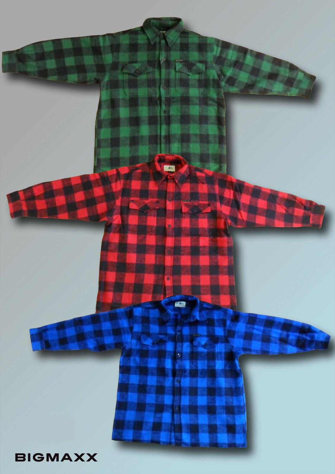 Holzfällerhemd Arbeitshemden Freiteithemd Karohemd in blau schwarz in Gr S und M