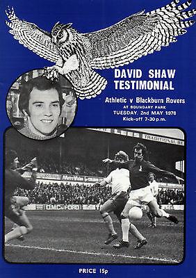 1977/78 Oldham Athletic v Blackburn Rovers, David Shaw Testimonial, PERFECT