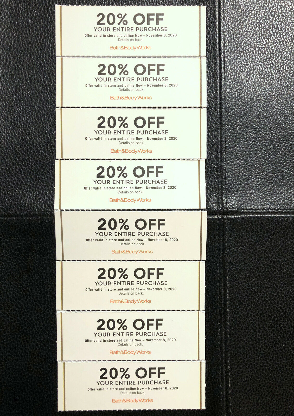 Bath Body Works Coupons Expires 11/8 8 Coupons 20 Off - $89.00