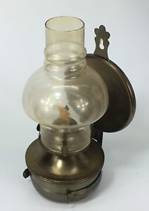 Vintage oil lamp wall mounted