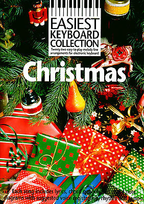 CHRISTMAS SONGS & CAROLS For Easy Keyboard Play Sheet Music Book Songbook