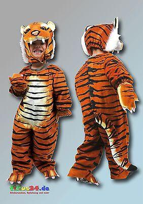 Kostüm Tiger Ganzkörperkostüm für Karneval Fasching und Kinder bis 100 cm ()