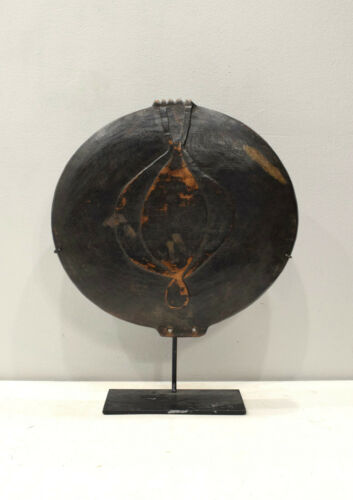 Papua New Guinea Bowl Fafona Stone Carved Wood Ceremony Feasting Bowl