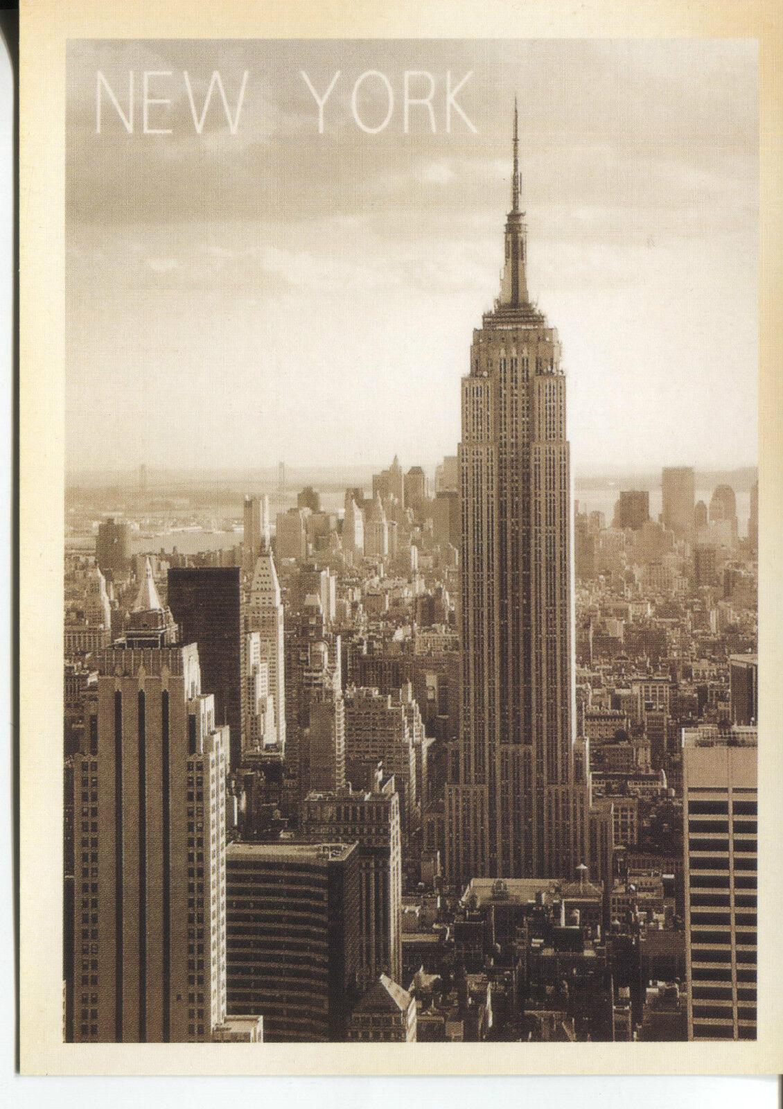 Post Karte Von Empire State Building IN New York City