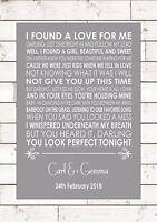 Perfect – Ed Sheeran First Dance Wedding Anniversary Personalised Print A4 -  - ebay.co.uk
