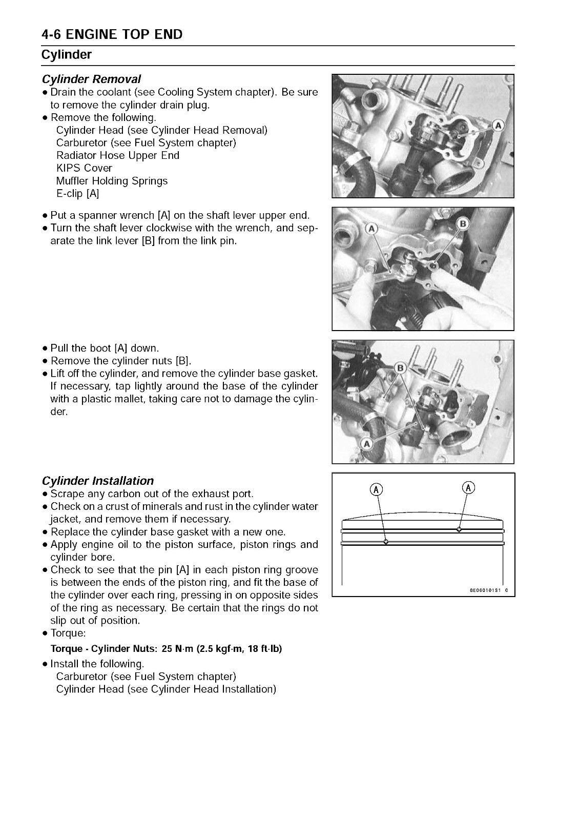 4 of 12 Kawasaki service manual 2007, 2008, 2009 KX85, KX85-II & KX100 5 of  12 Kawasaki service manual ...