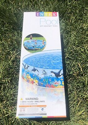 🐬 Intex 8ft X 18in Deep Blue Sea Snapset Above Ground Pool. FAST FREE SHIPPING