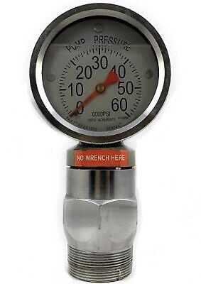 6000psi Pressure Gauge For Standpipe Mud Pump Drilling Rig 2-14 Type F