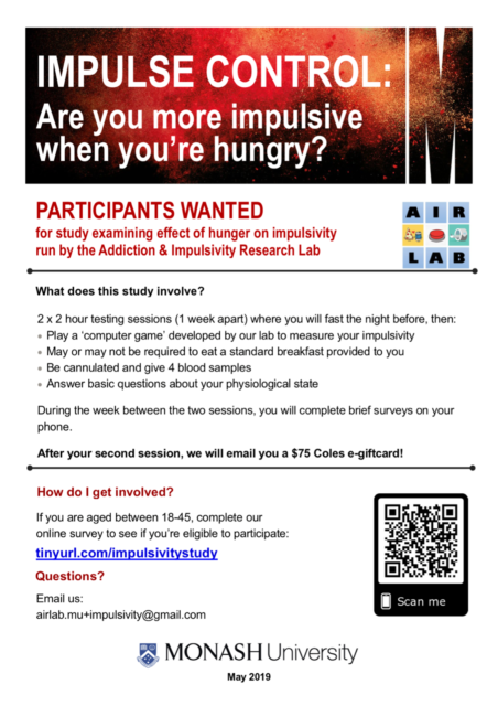 Paid research: Healthy adults wanted for hunger and