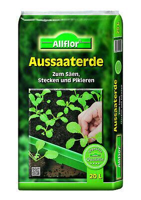 Aussaaterde 60 L Anzuchterde Blumenerde Pflanzerde Pflanzen Grow Erde Pikiererde
