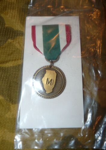 Illinois National Guard Full Size Medal of Merit - New in Package