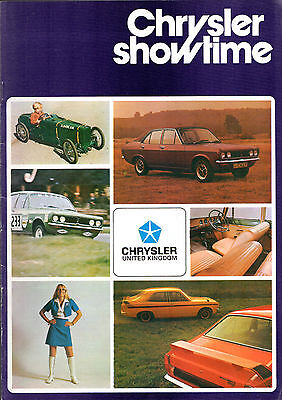 Chrysler Hillman Sunbeam Humber Simca Motorshow 1972 UK Market Sales Brochure