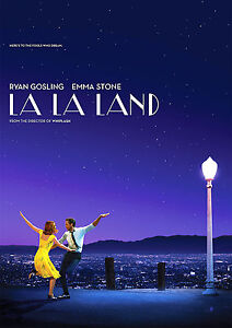 La La Land Poster 2017 Movie Emma Stone Ryan Gosling A4 260gsm
