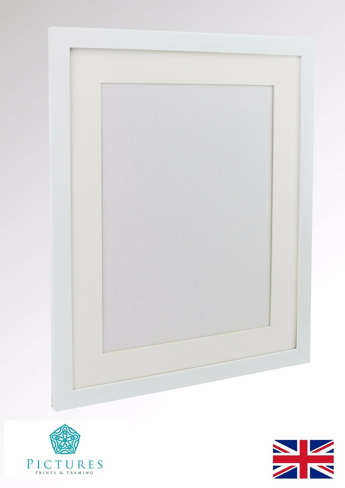 White Photo Picture Poster Panoramic Frame MOUNT 3x3\