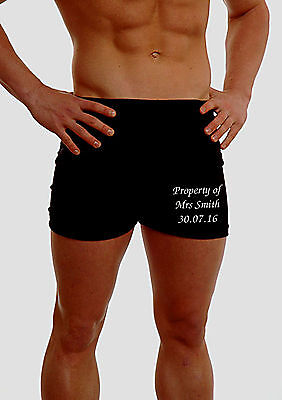 PERSONALISED MENS BOXERS PANTS UNDERWEAR WEDDING HUSBAND GROOM BEST MAN