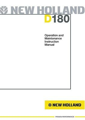 New Holland D180 Crawler Dozer Operators Operation Maintenance Manual