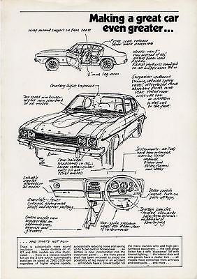 Ford Capri Mk1 Improvements 1972-73 UK Market Press Leaflet Brochure