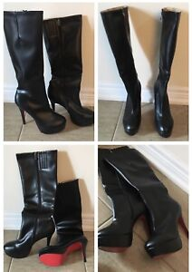 Brand new High heels boots Size 10 OBO.