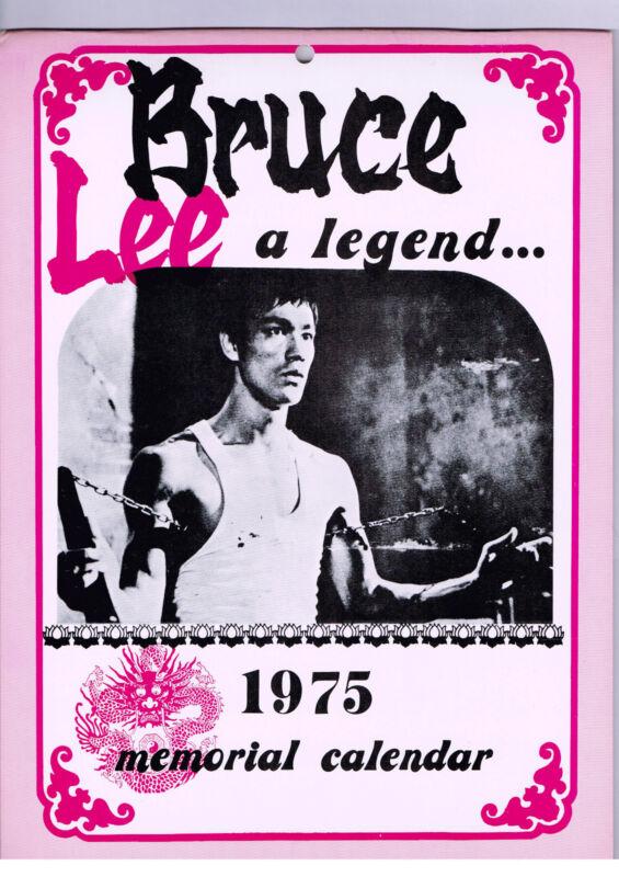 RARE! BRUCE LEE A LEGEND 1975 CALENDAR