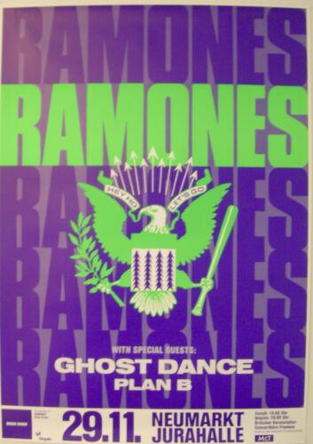 RAMONES CONCERT TOUR POSTER 1989 BRAIN DRAIN