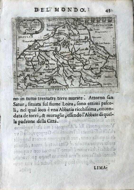 """""""BITURIGES"""", Abraham Ortelius, ca.1667."""