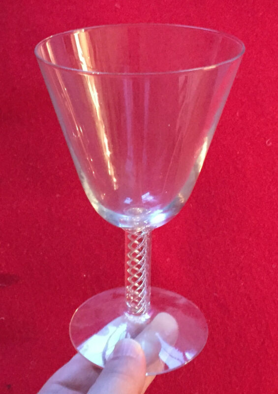 Blown Glass Air Twist Stem White Red Wine Glass Crystal Goblet