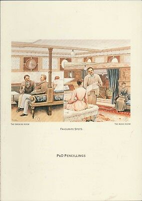 Sea Princess. P&O Pencillings. Smoking / Music Room Luncheon Menu. 1991. HL2.859