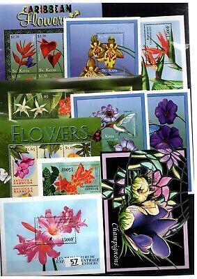 BL 10 S/S - MNH - MIX - NATURE - FLORA - FLOWERS - PLANTS - WHOLESALE