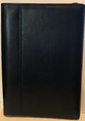 Baekgaard Rare Black Leather Zip Around Organizer Agenda Portfolio 10 X 7