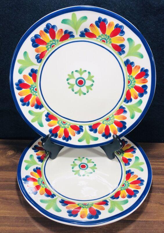 "Set of 2 Certified International Joyce Shelton Amalfi Palermo 11"" Dinner Plates"