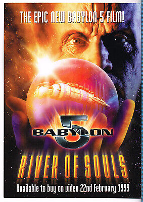 River Of Souls Babylon 5 Double-sided 1999 Video Release Card Advert Flyer