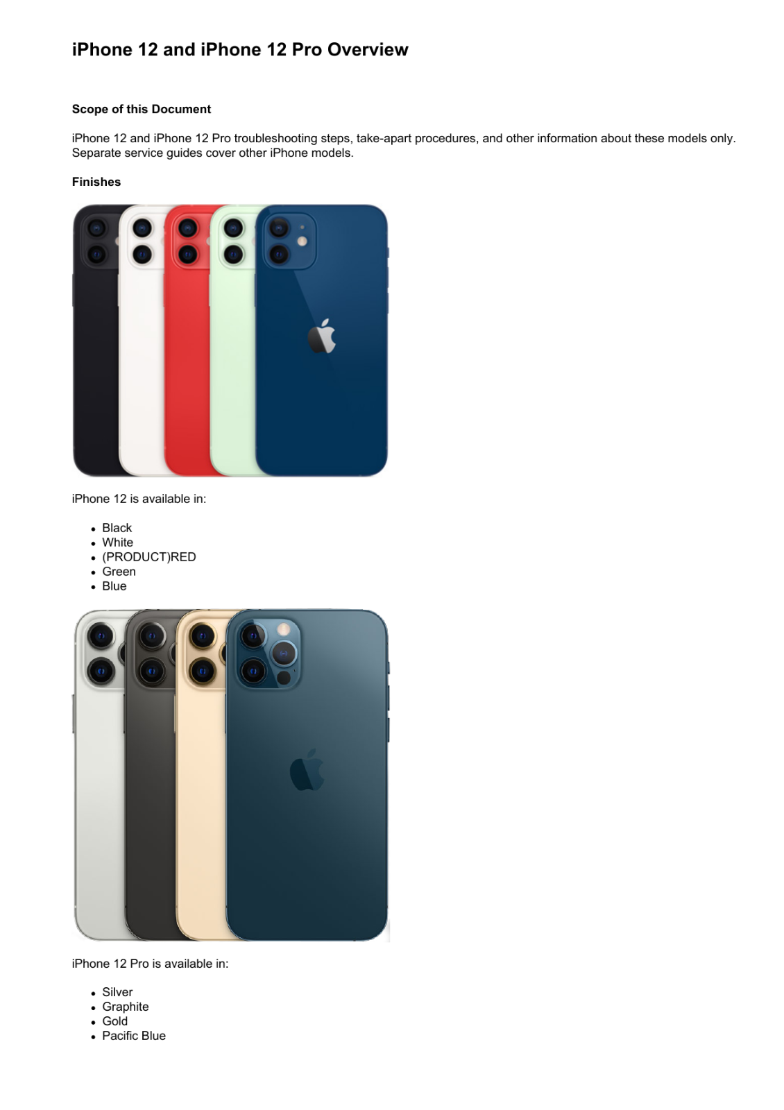 как выглядит Apple iPhone 12 and iPhone 12 Pro Technician Guide Service Manual фото
