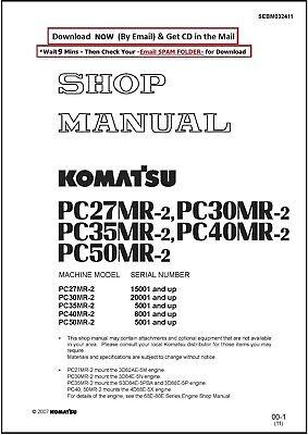 Komatsu Pc50mr-2 Hydraulic Excavator Service Shop Manual Cd