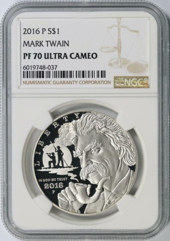 2016-P Mark Twain $1 Commemorative Dollar NGC PF70 Ultra Cameo