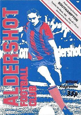 Football Programme>ALDERSHOT v SOUTHAMPTON Mar 1983