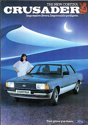 Ford Cortina Crusader Mk5 Limited Edition 1982 UK Market Sales Brochure