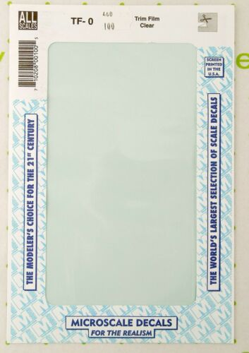 """All Scale Trim Film - Clear - Microscale #TF-0 (Size: approx. 4 1/2"""" x 7 1/2"""")"""