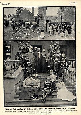 Bilder von den Kaisermanövern in Stettin. Leibhusaren Schwarze Husaren von 1900