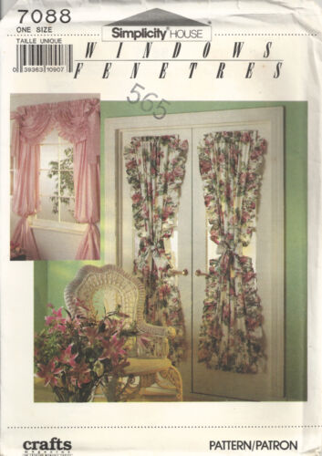 SIMPLICITY HOUSE 7088 WINDOW TREATMENTS SEWING PATTERN VINTAGE