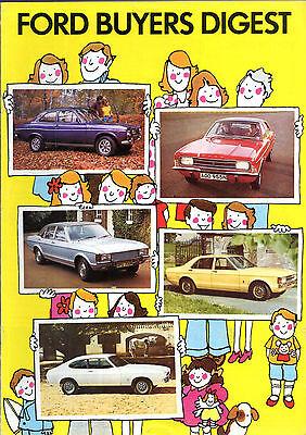 Ford 1974-75 UK Market Sales Brochure Escort Cortina Capri Consul Granada