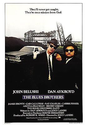 The Blues Brothers - John Belushi - Dan Aykroyd - A4 Laminated Mini Poster