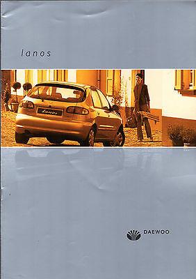 Daewoo Lanos 2001-02 UK Market Sales Brochure 1.4 S SE 1.6 SX 3-dr 4-dr 5-dr